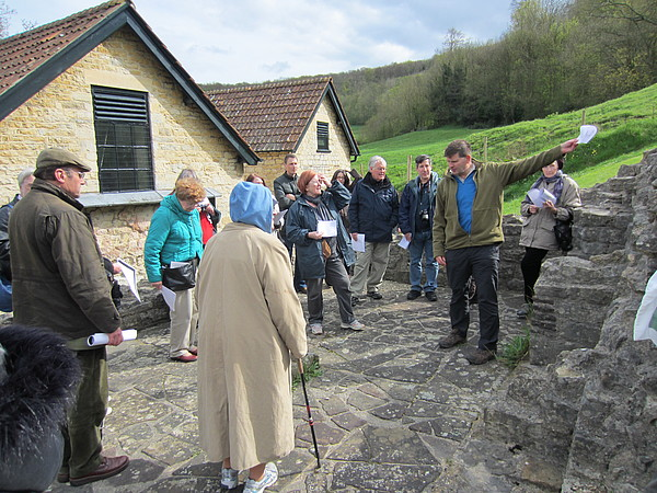 Great Witcombe Roman Villa - Neil Holbrook leads the site visit