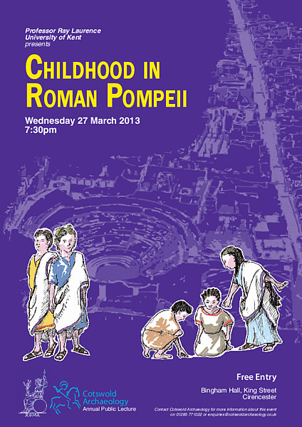 poster for Childhood in Roman Pompeii lecture