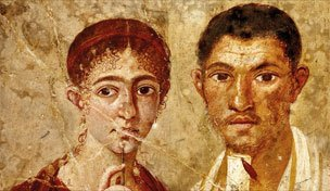 Portrait of a woman and man from Pompeii